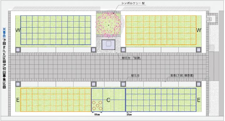 樹木型墓地〜花〜販売区画