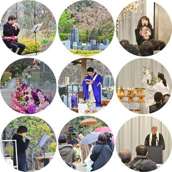 桜葬メモリアルの様子